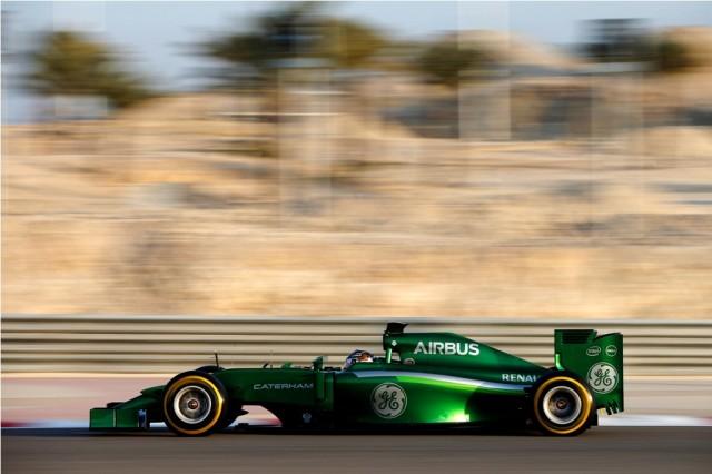 2014 F1 Pre Season Test 2 - Day 2 Bahrain International Circuit, Bahrain. Thursday 20 February 2014. Kamui Kobayashi, Caterham CT05 Renault. World Copyright: Glenn Dunbar/LAT Photographic. ref: Digital Image _W2Q2831
