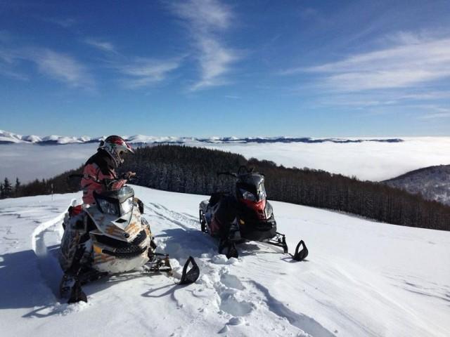 verificare traseu Predeal Snowmobile 1 Winter Cup l