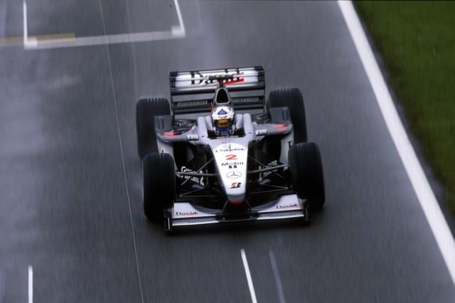 David Coulthard McLaren-Mercedes MP4-15 British Grand Prix in 2000.