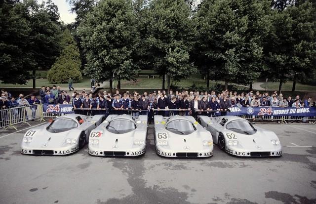 24 Hours of Le Mans, 10-11 iunie 1989. Sauber-Mercedes C 9 racing car, Group C.