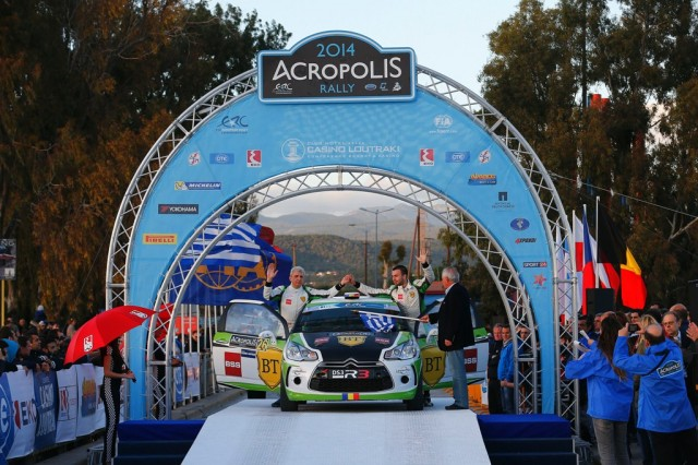 MOTORSPORT - EUROPEAN RALLY CHAMPIONSHIP 2014 - ACROPOLE RALLY OF GRECE - LOUTRAKI (GRE) 28/03 TO 30/03/2014 - PHOTO : GREGORY LENORMAND / DPPI -  26 TEMPESTINI SIMONE  / PULPEA DORIN  - CITROEN DS3 R3  -  AMBIANCE - PORTRAIT