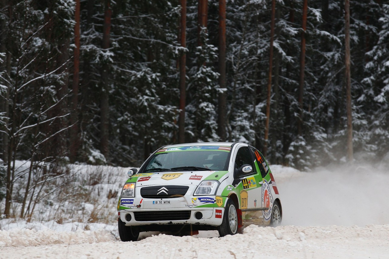 MOTORSPORT - EUROPEAN RALLY CHAMPIONSHIP 2014 - LIEPAJA RALLY - LATVIA (LET) 31/01 TO 2/02/2014 - PHOTO : GREGORY LENORMAND / DPPI -  44 TINCESCU FLORIN (ROM ) /