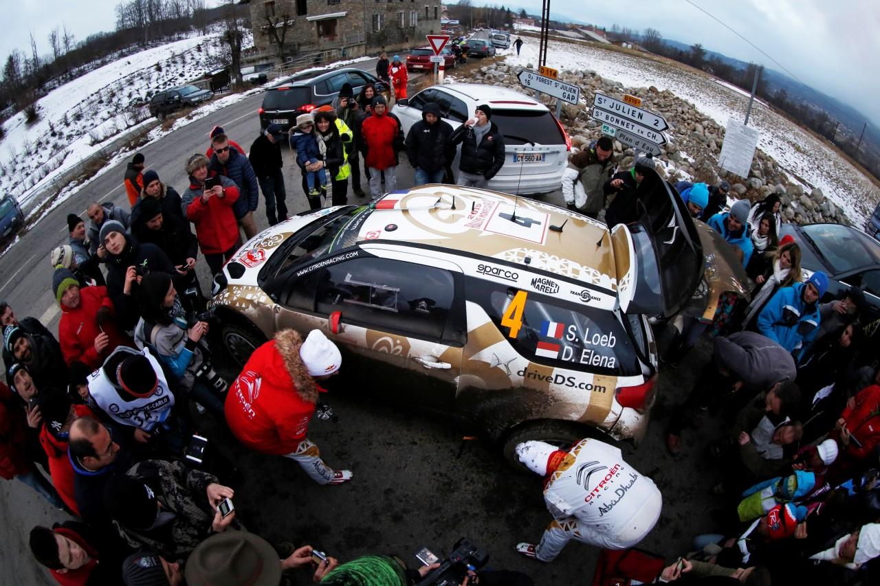WRC  RALLYE MONTE CARLO 2015  - PHOTO : CITROEN RACING/AUSTRAL Loeb Sebastien, Citroen Total Abu Dhabi WRT, DS 3 WRC, Ambiance