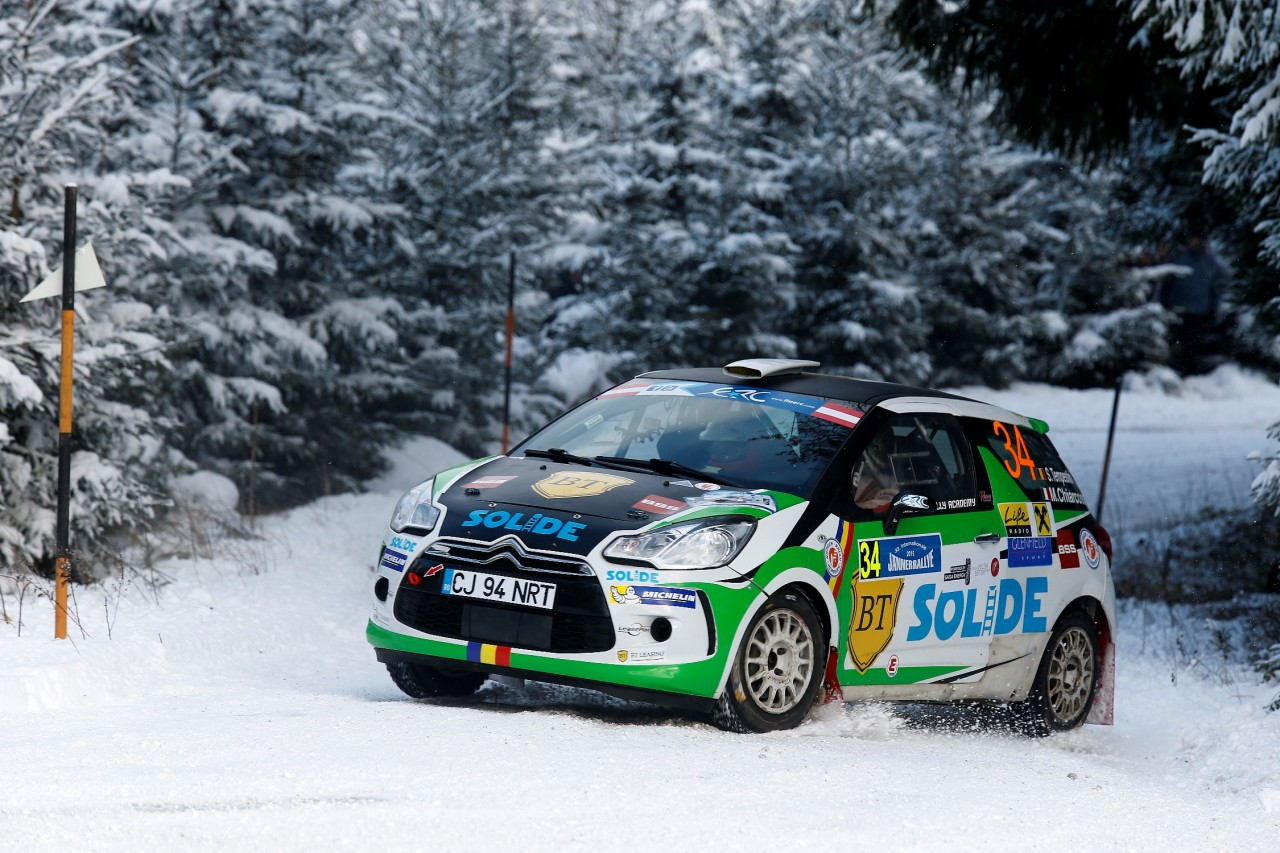 34 Simone Tempestini (ITA) - Matteo Chiarcossi (ITA) - Citroen DS3R3T / Action during the 2015 European Rally Championship ERC Jänner rally,  from January 4 to 6th, at Freistadt, Austria. Photo Gregory Lenormand / DPPI