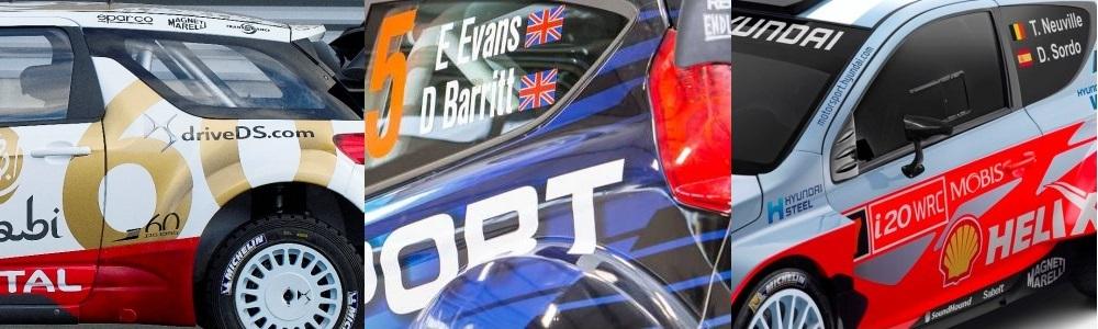 Grafici si sponsori noi pentru constructorii din WRC