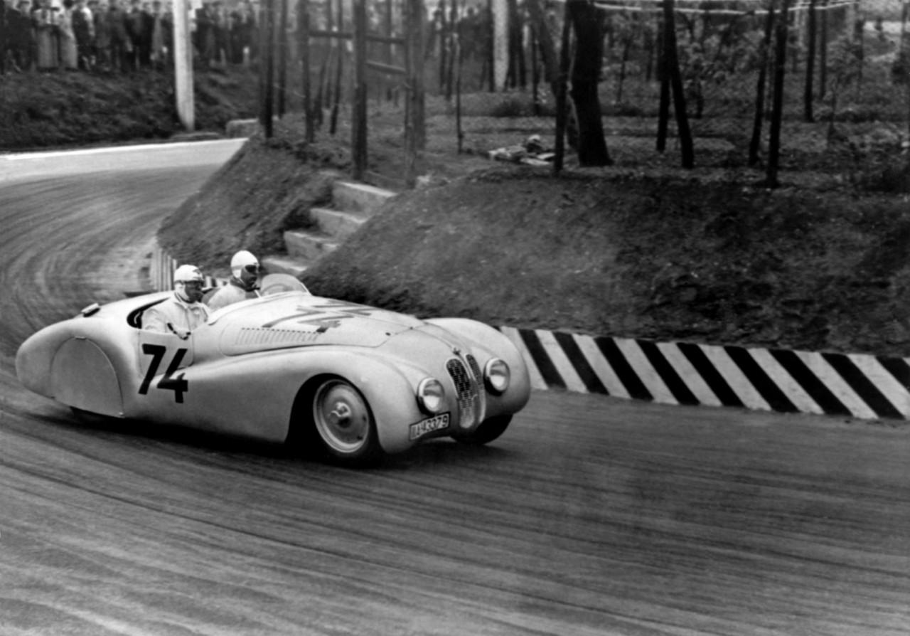 """BMW 328 """"Mille Miglia"""" Roadster  1st Italian Mille Miglia Grand Prix in Brescia, April 28, 1940"""