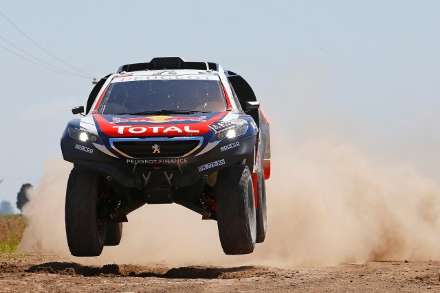 302 PETERHANSEL Stephane (Fra) COTTRET Jean paul (Fra) Peugeot action during the Dakar 2015 Argentina Bolivia Chile, Stage 1 / Etape 1 -  Buenos Aires to Villa Carlos Paz on January 4th 2015 at Buenos Aires, Argentina. Photo Frederic Le Floch / DPPI