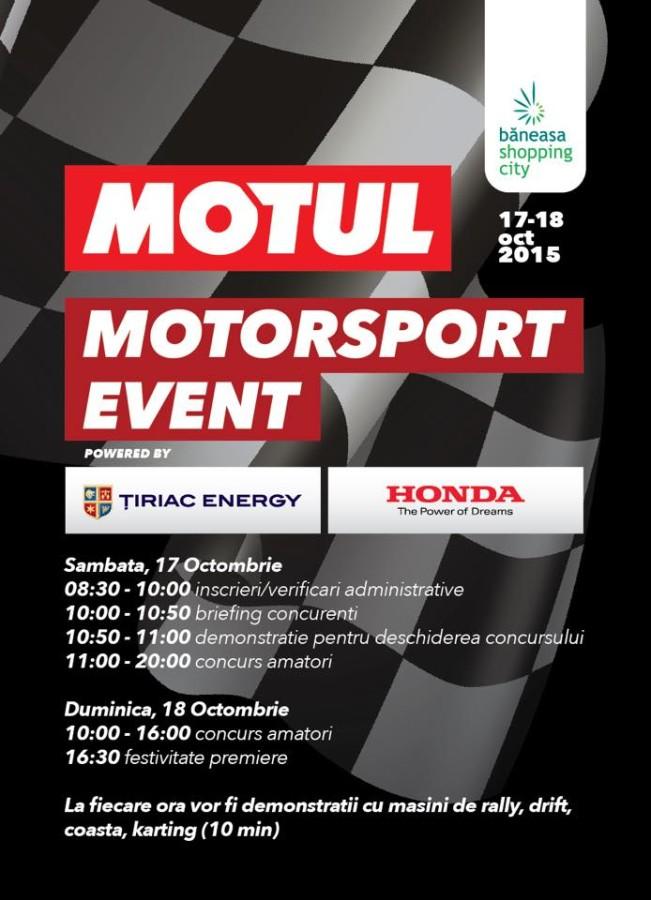 Program MOTUL Motorsport Event